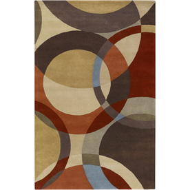 Artistic Weavers Lismore Brown Rectangular Indoor Tufted Area Rug (Common: 5 x 8; Actual: 60-in W x 96-in L x 1.7-ft Dia)
