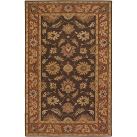 Artistic Weavers Kingston Rectangular Brown Floral Tufted Wool Area Rug (Common: 8-ft x 11-ft; Actual: 8-ft x 11-ft)