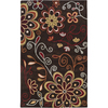 Artistic Weavers Nelson 96-in x 132-in Rectangular Brown/Tan Floral Area Rug
