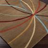 Artistic Weavers Maitland Brown Rectangular Indoor Tufted Area Rug (Common: 5 x 8; Actual: 60-in W x 96-in L x 1.7-ft Dia)