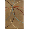 Artistic Weavers Maitland 60-in x 96-in Rectangular Brown/Tan Geometric Area Rug