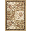 Artistic Weavers Namibia 63-in x 90-in Rectangular Brown/Tan Floral Area Rug