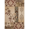 Artistic Weavers Savannah 94-in x 130-in Rectangular Cream/Beige/Almond Floral Area Rug