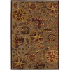 Artistic Weavers Newry 90-in x 126-in Rectangular Brown/Tan Floral Area Rug