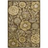 Artistic Weavers Lisburn 90-in x 126-in Rectangular Brown/Tan Floral Area Rug