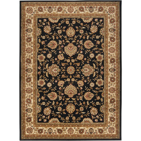 Artistic Weavers Perth 7-ft 10-in x 10-ft 2-in Rectangular Black Floral Area Rug PERTH-B