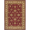 Artistic Weavers Benin 63-in x 87-in Rectangular Red/Pink Floral Area Rug