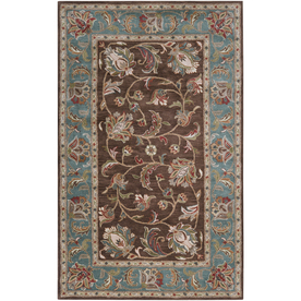 Artistic Weavers Brisbane 5-ft x 7-ft 6-in Rectangular Brown Floral Wool Area Rug BRISBANE-A