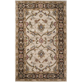 Artistic Weavers Adelaide 5-ft x 7-ft 6-in Rectangular Cream Floral Wool Area Rug ADELAIDE-A