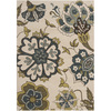 Artistic Weavers Verde 94-in x 126-in Rectangular White Floral Area Rug