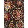 Artistic Weavers Guinea 94-in x 126-in Rectangular Brown/Tan Floral Area Rug