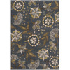 Artistic Weavers Lesotho 94-in x 126-in Rectangular Blue Floral Area Rug