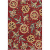 Artistic Weavers Libya 94-in x 126-in Rectangular Red/Pink Floral Area Rug