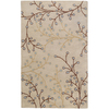 Artistic Weavers Athena 60-in x 96-in Rectangular White Floral Area Rug
