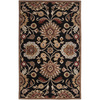 Artistic Weavers Dearne 96-in x 132-in Rectangular Black Floral Area Rug