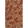Artistic Weavers Wycombe 60-in x 96-in Rectangular Orange/Peach/Apricot Floral Area Rug