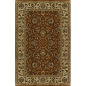 Artistic Weavers Crowne Rectangular Red with Brown Border Area Rug (Common: 8-ft x 11-ft; Actual: 8-ft x 11-ft)