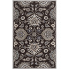 Artistic Weavers Milton 60-in x 96-in Rectangular Black Floral Area Rug