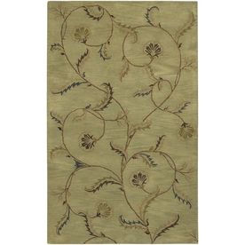 Artistic Weavers Sardinia Rectangular Green Floral Tufted Area Rug (Common: 5-ft x 8-ft; Actual: 5-ft x 8-ft)