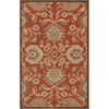 Artistic Weavers Aberdeen 60-in x 96-in Rectangular Orange/Peach/Apricot Floral Area Rug