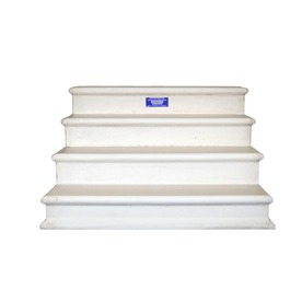 Shop Century Group Inc. 28-in x 44-in 4-Tread Precast Concrete Steps at Lowes.com