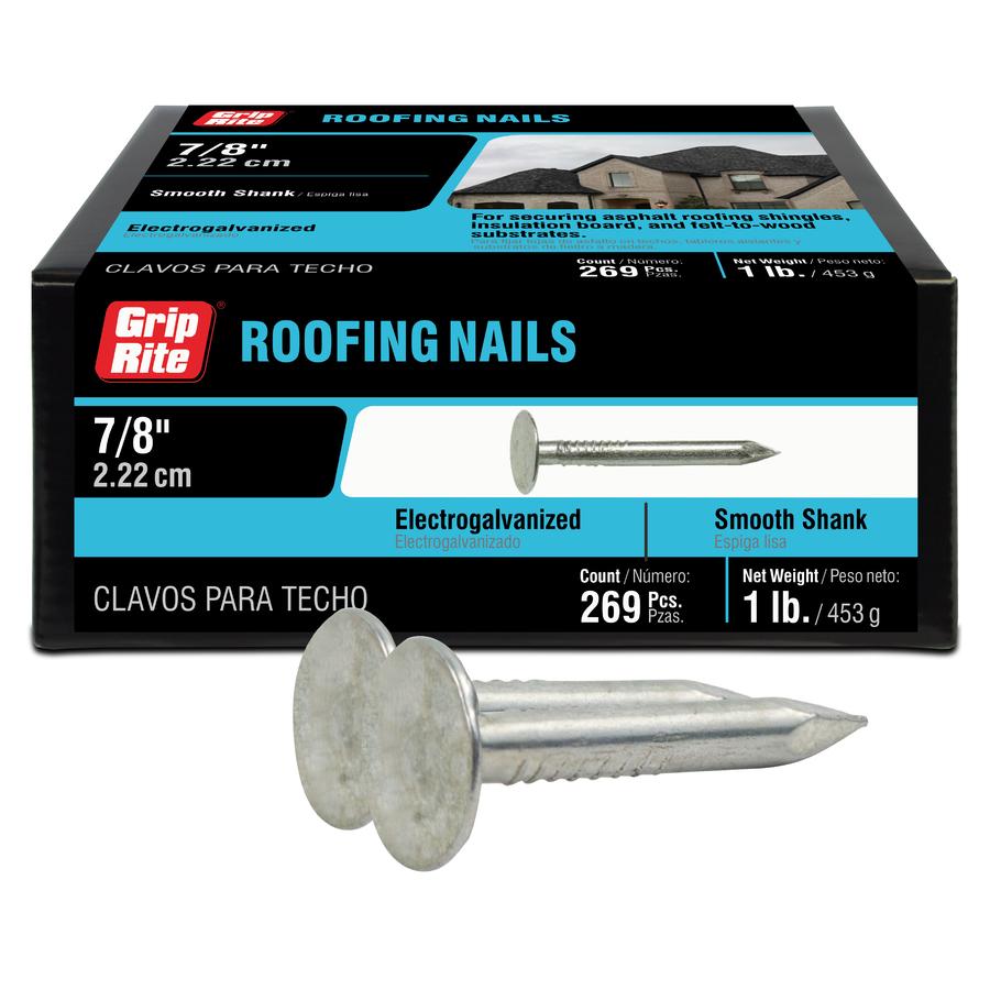 Shop Grip Rite 1 Lb 11 Gauge 0 875 In Steel Roofing Nails