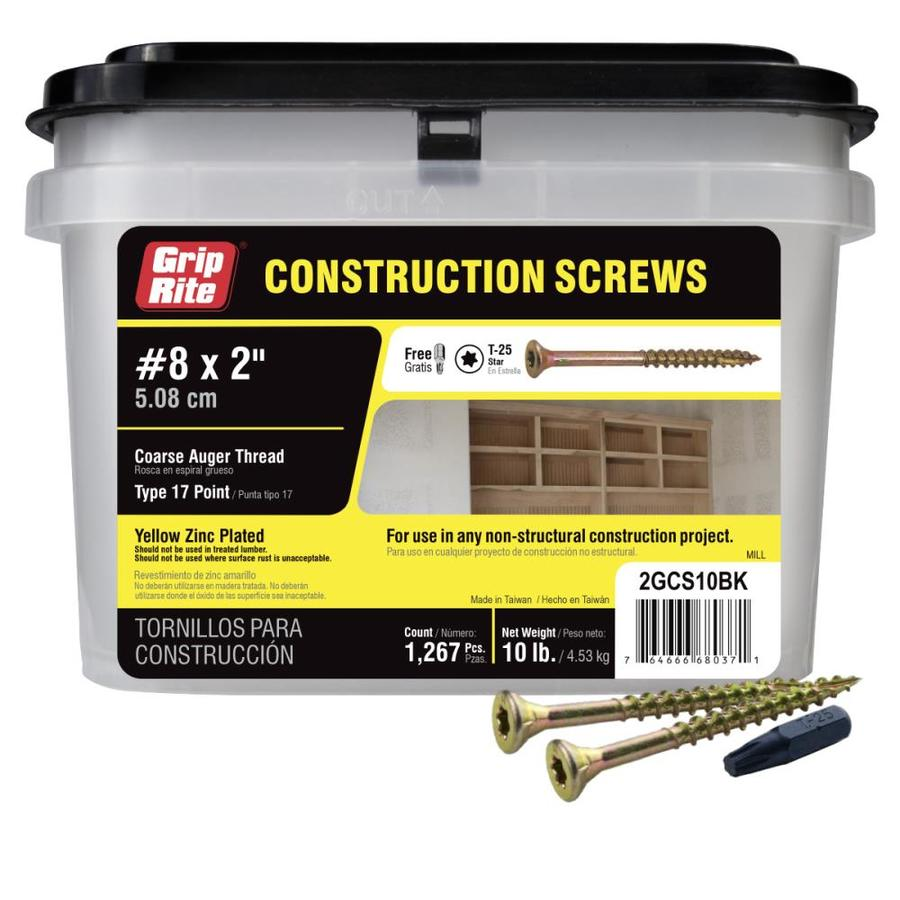 10,000 x Twin Thread Wood Screw FIXINGS ZP ZINC Plated Steel 8 x 3//4 inch