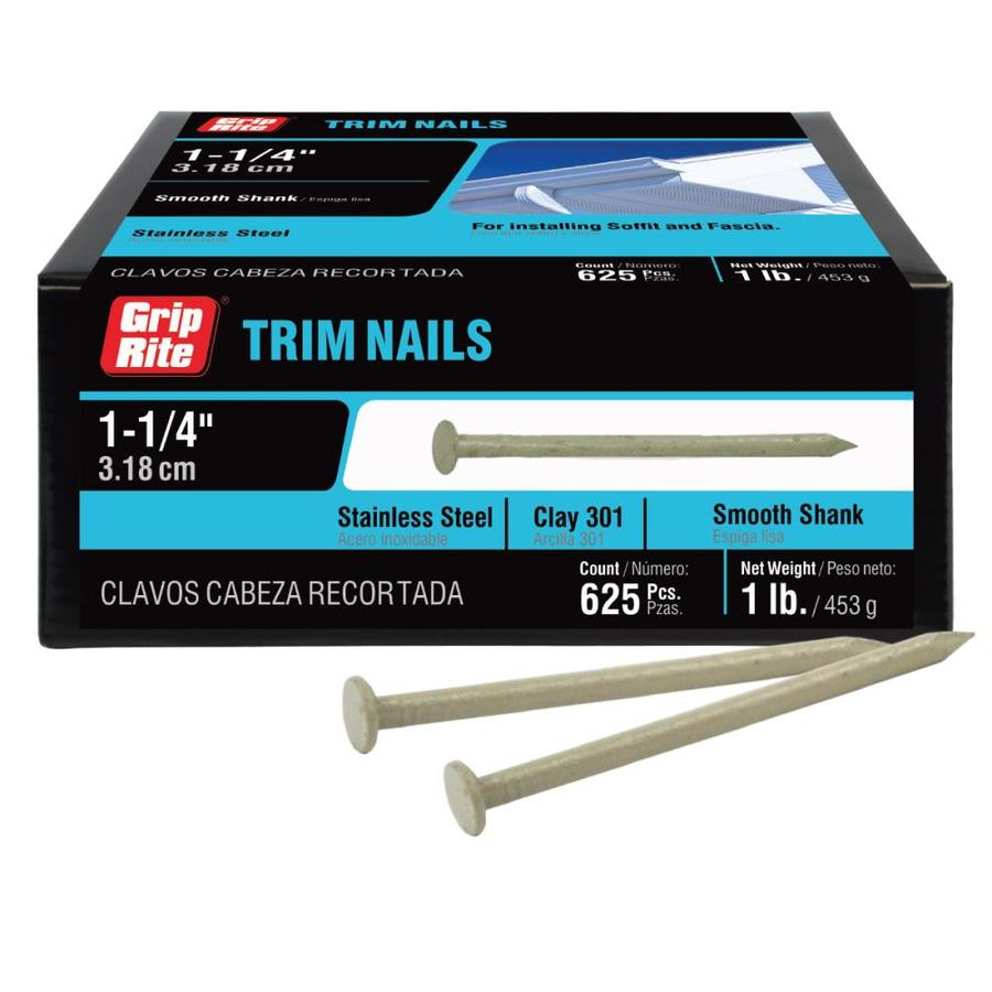 """1 1//4/"""" Trim Nails Stainless Steel CLAY Finish Nails 1lb box STRONGHOLD"""