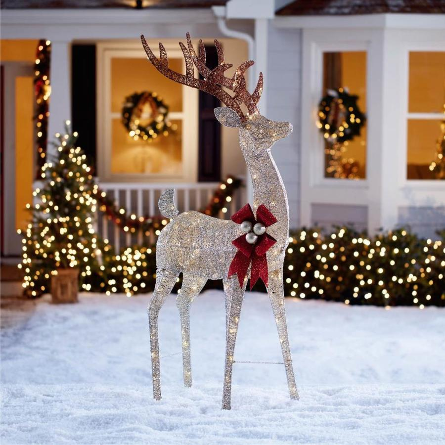 Holiday Living 64 in Buck Sculpture with Clear LED Lights