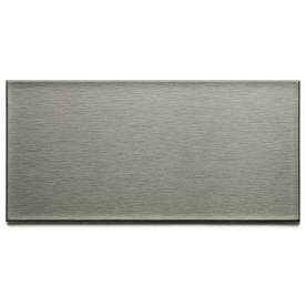 Aspect Metal 3-in x 6-in Brushed Stainless Composite Multipurpose Backsplash