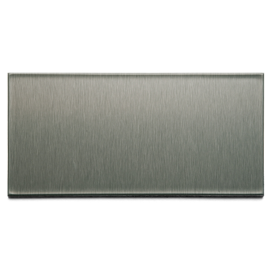 metal 3 in x 6 in brushed stainless composite multipurpose backsplash