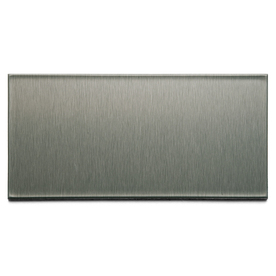Aspect Metal 6-in Brushed Stainless Composite Multipurpose Backsplash