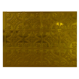 Fasade 24-1/2-in Brass Thermoplastic Multipurpose Backsplash