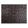 Fasade 18.5-in x 24.5-in Smoked Pewter Thermoplastic Backsplash