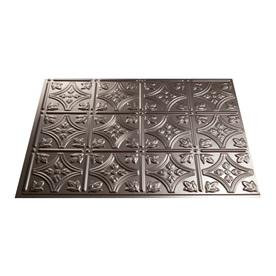 Fasade 18.5-in x 24.5-in Brushed Nickel Thermoplastic Multipurpose Backsplash