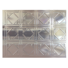 Fasade 24-1/2-in Chrome Thermoplastic Multipurpose Backsplash