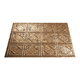 Fasade 18.5-in x 24.5-in Cracked Copper Thermoplastic Multipurpose Backsplash