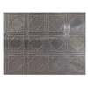Fasade 24-1/2-in Cross Hatch Silver Thermoplastic Multipurpose Backsplash