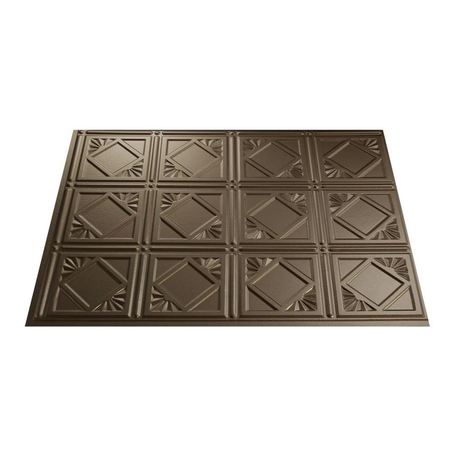 shop fasade 18 5 in x 24 5 in argent bronze thermoplastic