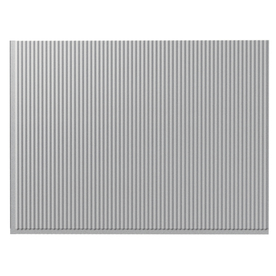 Fasade 24-1/2-in Silver Thermoplastic Multipurpose Backsplash