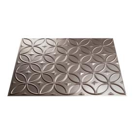 Fasade 18.5-in x 24.5-in Brushed Nickel Thermoplastic Backsplash