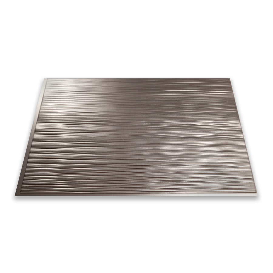 shop fasade 18 5 in x 24 5 in brushed nickel thermoplastic