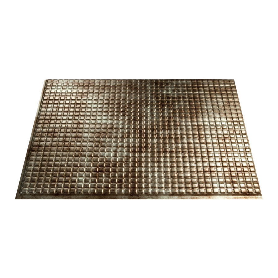 shop fasade 18 5 in x 24 5 in bermuda bronze thermoplastic