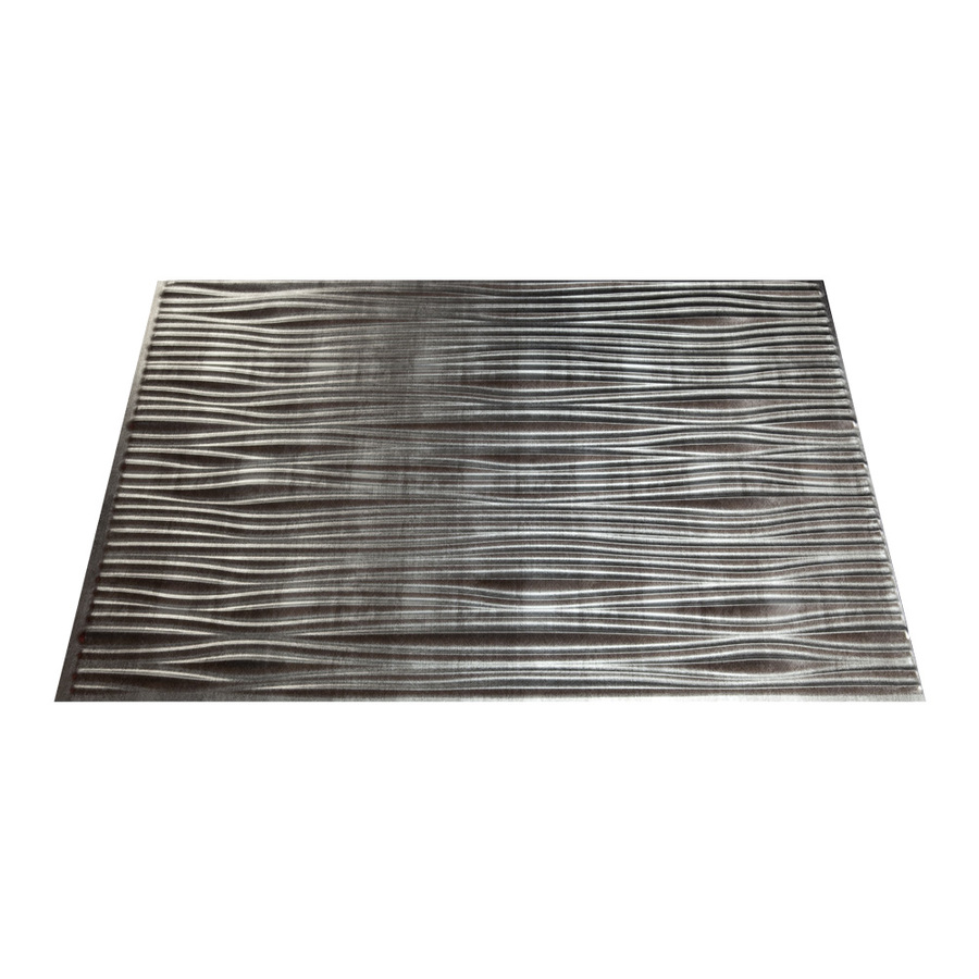 cross hatch silver thermoplastic multipurpose backsplash at