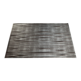 Fasade 24-1/2-in Cross Hatch Silver Thermoplastic Multipurpose (Kitchen, Bath or Bar) Backsplash