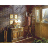 DPI 47.75-in x 7.98-ft Embossed Red Brick with Black Grout Hardboard Wall Panel