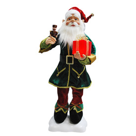 Holiday Living 24-in Christmas Plastic Lighted Santa Helper