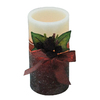 "Holiday Living 6"" Cordless Indoor Glittered LED Pillar Candle"