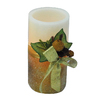 """Holiday Living 6"""" Cordless Indoor Gold Glitter LED Pillar Candle"""