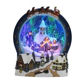 Holiday Living Resin Lighted Musical Animatronic Santa Carousel Christmas Collectible